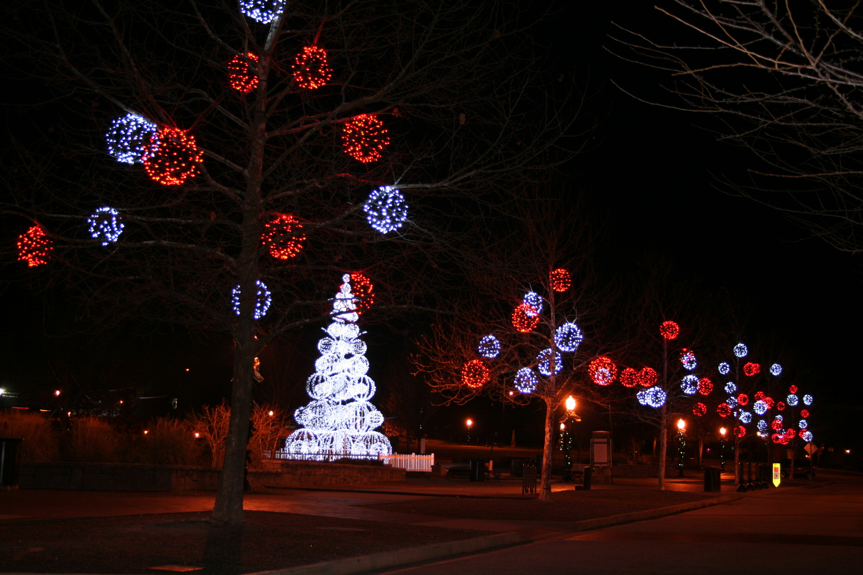 Our Hanging LED Speres with our Sphere Tree at Suwanee City Center