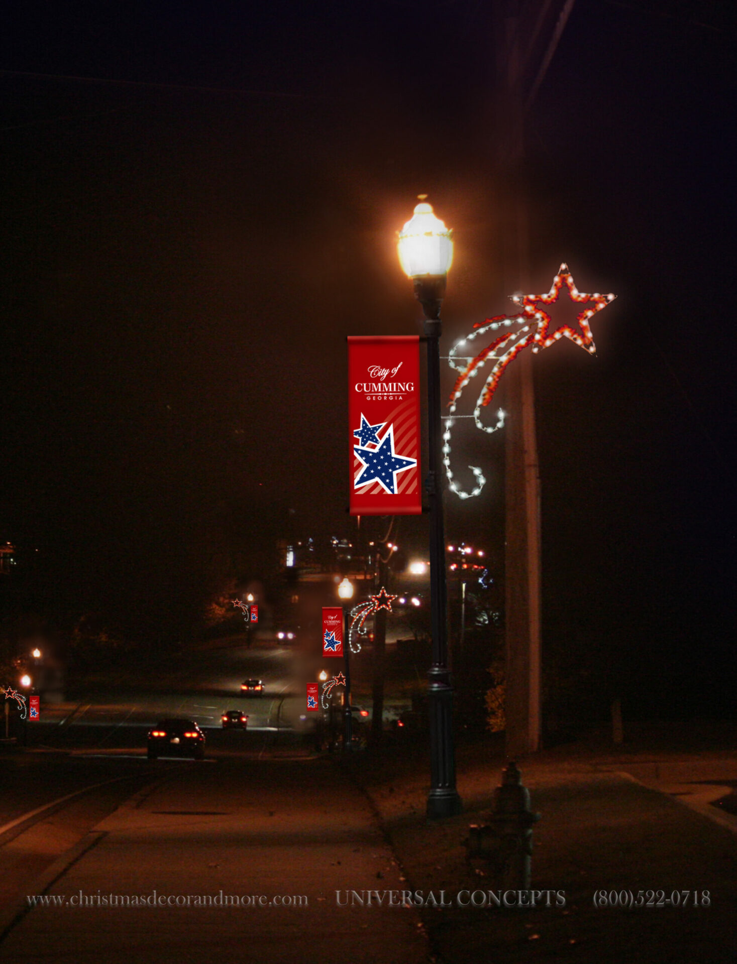 Our Shooting Star Pole Decor with Banner - Universal Concepts