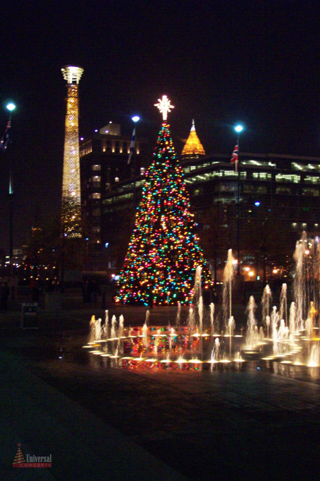 Giant Christmas Panel Tree in Downtown Atlanta